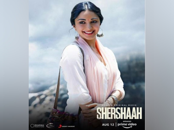 Kiara Advani as Dimple Cheema in new poster of 'Shershaah' (Image source: Instagram)