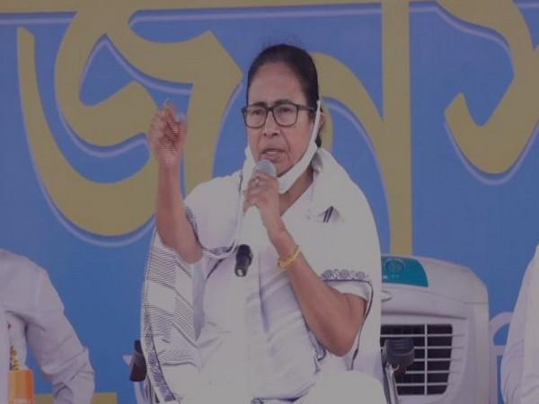 West Bengal Chief Minister Mamata Banerjee at Purba Bardhaman on Friday.