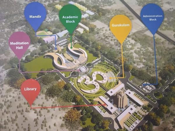 Proposed design of Ashok Singhal Ved Vigyan Evam Praudyogikee Vishwavidyalaya. Photo/ANI