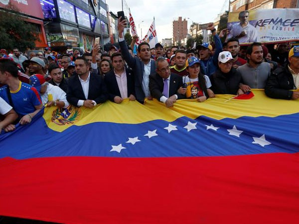 Protesters in Caracas in January 2019 (Photo/Reuters)