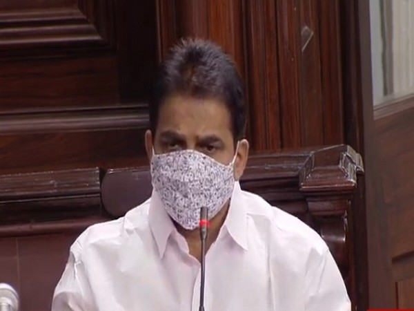 Congress MP KC Venugopal speaking at the Rajya Sabha on Wednesday