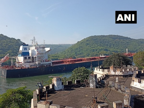A visual of 'The Oslo' at Inner Harbour of Visakhapatnam port. (Photo/ANI)