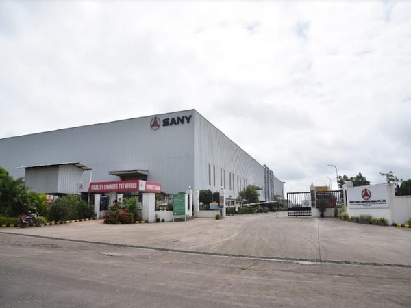 Sany India plant in Chakan, Pune