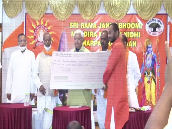 VHP leaders at an event in Hyderabad. [Photo/ANI]