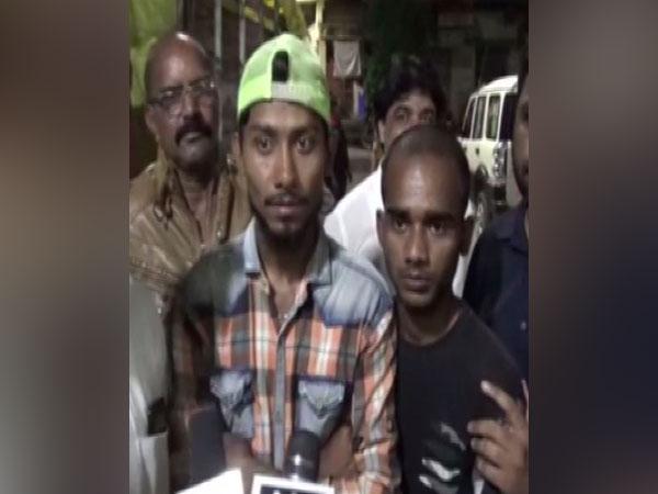 Victims talking to media in Aurangabad on Sunday