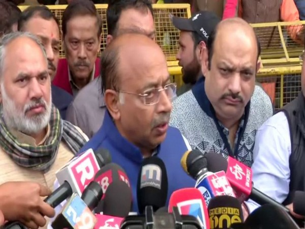 Rajya Sabha MP Vijay Goel speaks to media in New Delhi [Photo/ANI]