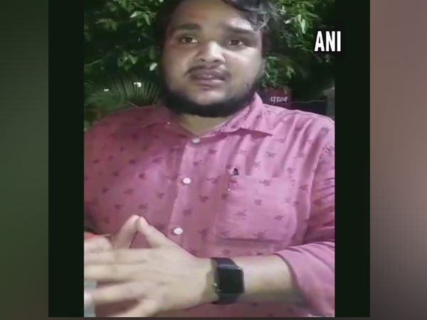Vijay Singh, first year student of AMU talking to ANI at Aligarh on Thursday
