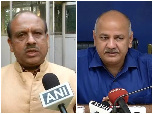 A combo picture of BJP leader Vijender Gupta (left) and Delhi's deputy chief minister Manish Sisodia.