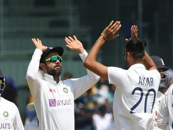 India skipper Virat Kohli and all-rounder Axar Patel (Image: Virat Kohli's Twitter)