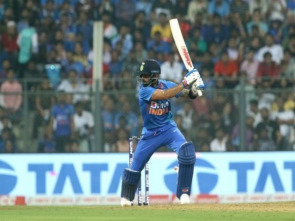 India skipper Virat Kohli in action against West Indies (Photo/ BCCI Twitter)