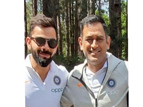 Virat Kohli with MS Dhoni (Photo/ Virat Kohli Twitter)