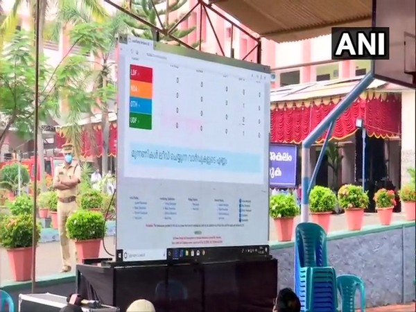A visual from a counting centre in Thiruvananthapuram. (Photo/ANI)