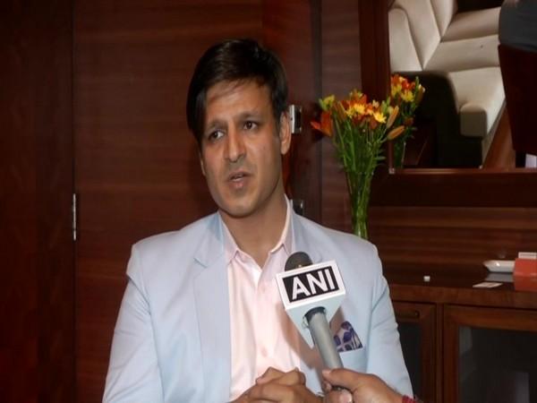Vivek Oberoi talking to ANI in New Delhi on Monday. Photo/ANI