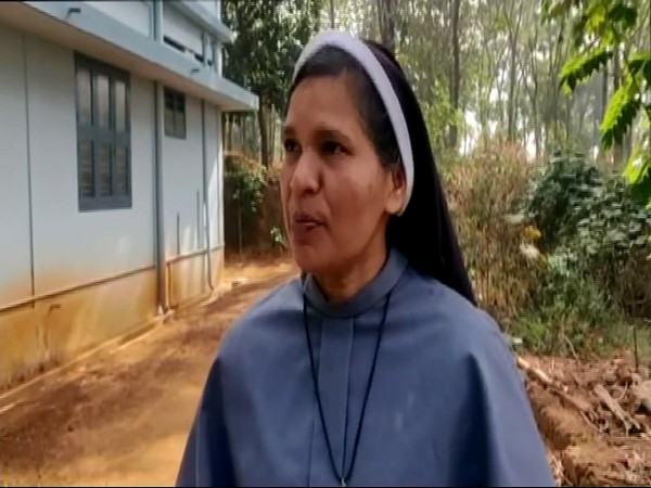 Sister Lucy speaking to the media in Wayanad on Saturday.