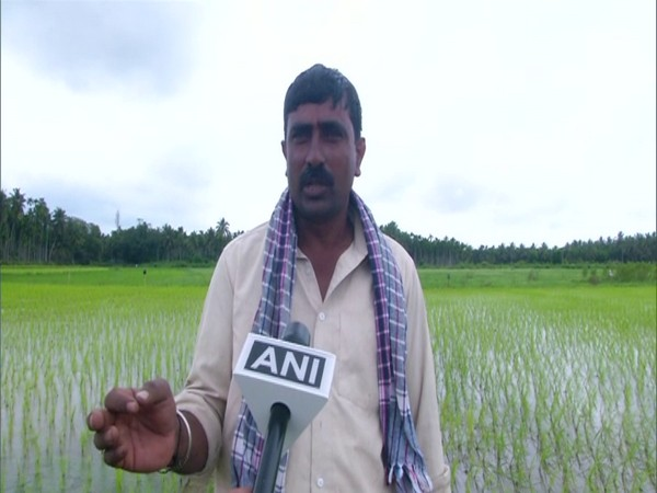Satish, a farmer in Shivamogga in conversation with ANI.