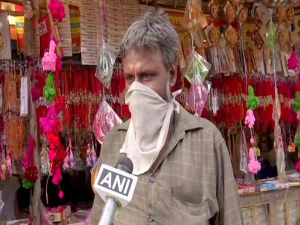 Akash, the 'Corona rakhi' shop owner in conversation with ANI.