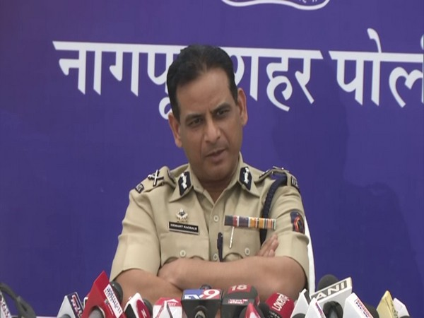 Maharashtra Director-General of Police (DGP) Hemant Kumar Nagrale addressing a press conference in Nagpur. (Photo/ANI)