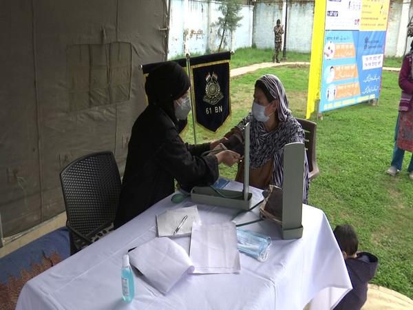 CRPF organized a free medical camp in the Batwara area of Srinagar. (Photo/ANI)