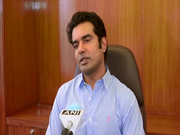 IAS officer-turned-actor Abhishek Singh in conversation with ANI. (Photo/ANI)