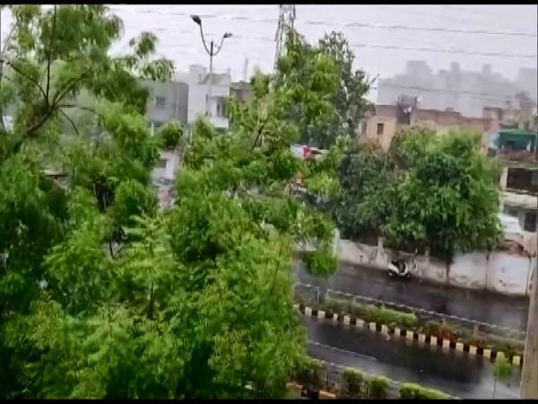 Heavy rains lash Ahmedabad. (Photo/ANI)