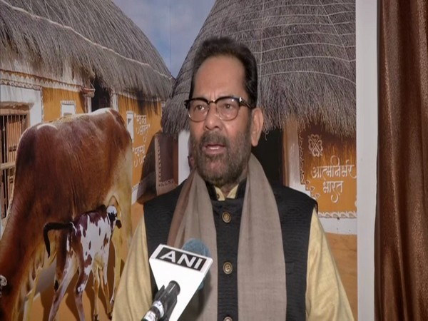 Union Minister Mukhtar Abbas Naqvi in conversation with ANI. (Photo/ANI)