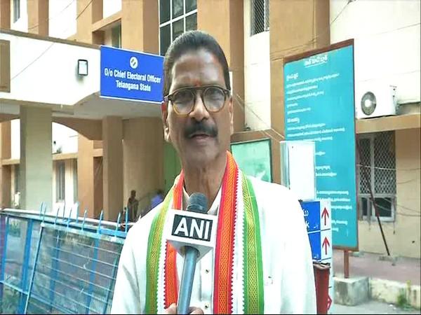 Congress leader Marri Shashidhar Reddy speaking to ANI on Monday