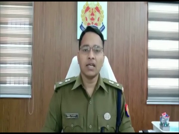Superintendent of Police (SP) Hathras, Vineet Jaiswal speaking to reporters on Wednesday. (Photo/ANI)