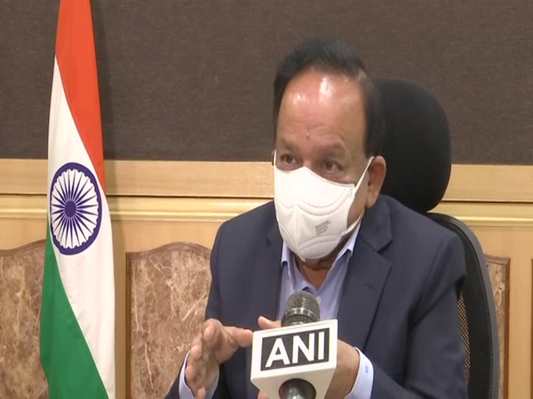 Union Health Minister Harsh Vardhan in conversation with ANI. (Photo/ANI)