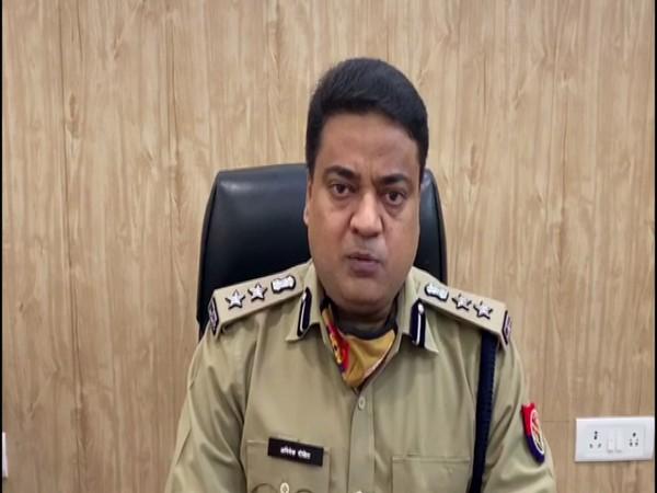 bhishek Dixit, Senior Superintendent of Police (SSP), Prayagraj in conversation with ANI. (Photo/ANI)