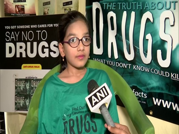 Tanya Begum, a student of Class 4 who has been raising her voice against drugs, in conversation with ANI. (Photo/ANI)