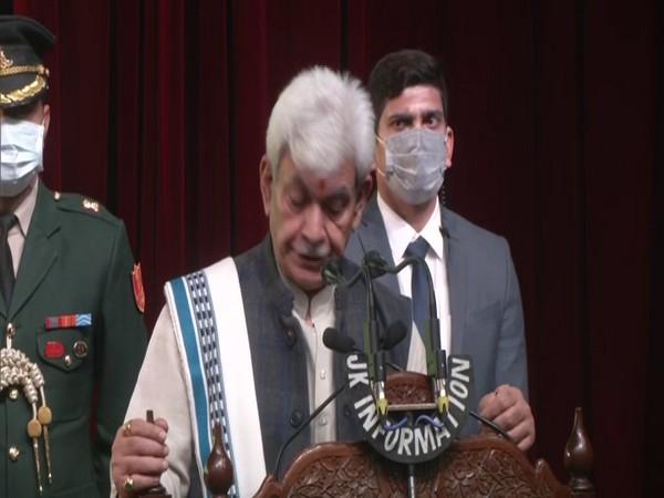Jammu and Kashmir Lieutenant Governor Manoj Sinha. (Photo/ANI)