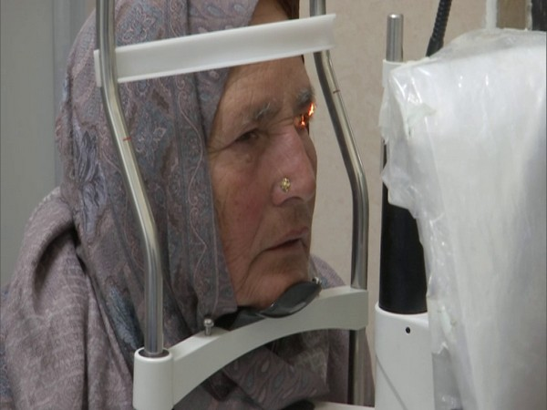 An old-age patient being screened for eye treatment. (Photo/ANI)