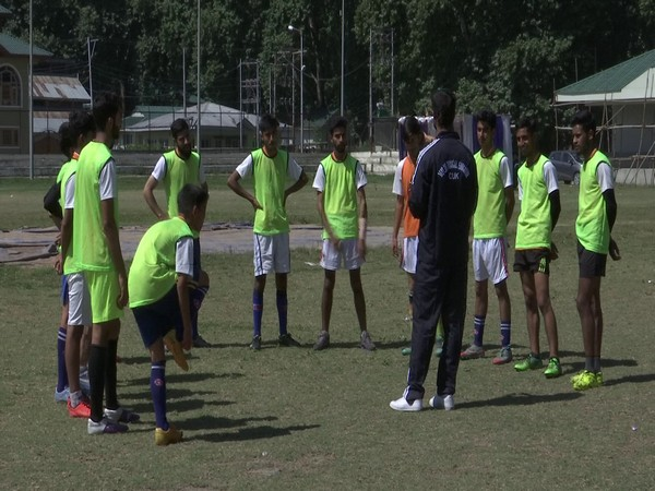 Young trainees at the football academy. (Photo/ANI)