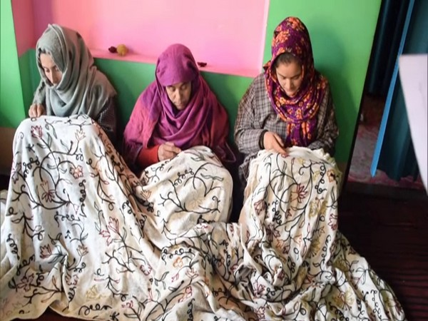 Handloom and Handicrafts department of Jammu and Kashmir administration is training them in carpet making and Sozni embroidery arts (Photo/ANI)