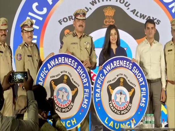 Hyderabad City Police Commissioner Anjani Kumar at the launch of the event. (Photo/ANI)