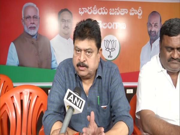 BJP MLC N Ramachander Rao in conversation with ANI. (Photo/ANI)