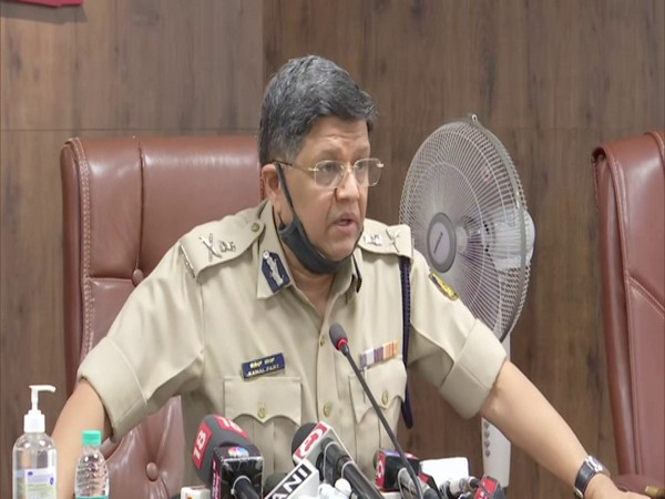 Kamal Pant, Commissioner of Police at a press conference in Bengaluru. (Photo/ANI)