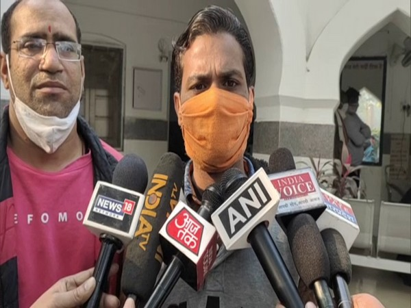 Karamveer talking to media in Uttar Pradesh's Aligarh on Thursday.
