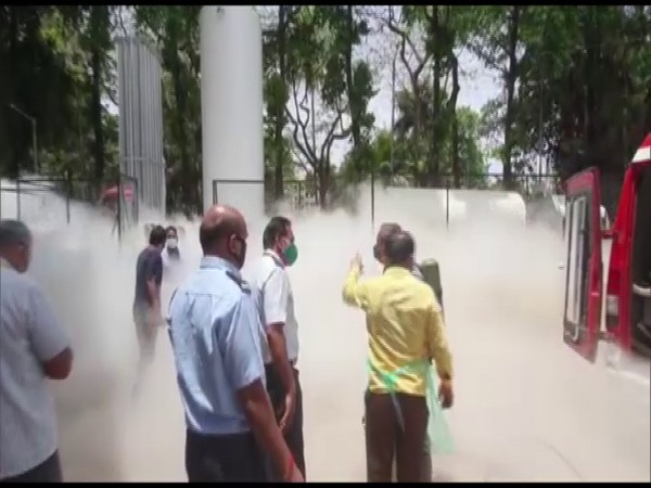 Officials are present at the spot and operation to contain the leak is underway. (Photo/ANI)