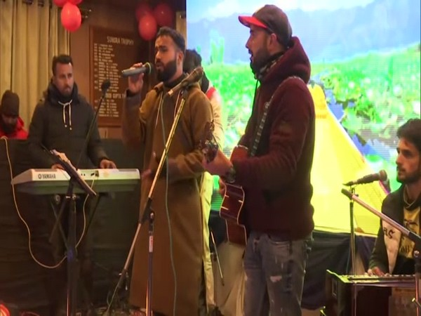 Visual from the musical performance at the Gulmarg district's New Years celebration. (Photo/ANI)