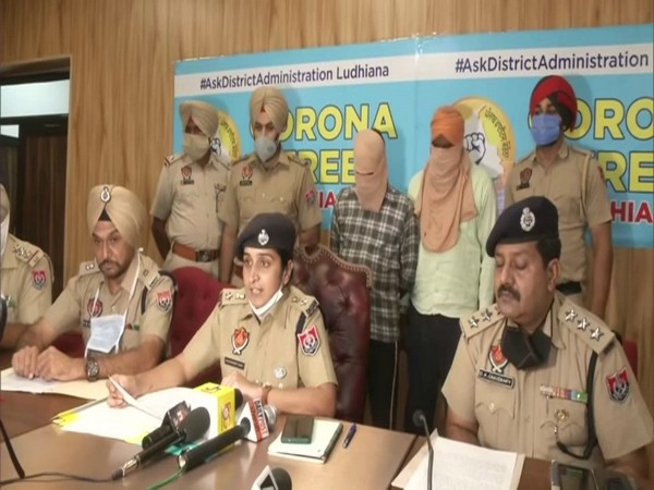 Joint Commissioner Kawaldeep Kaur, Ludhiana Police addressing mediapersons. (Photo/ANI)