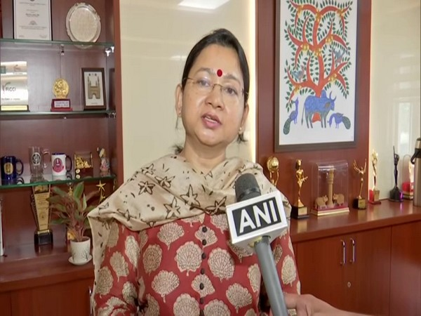 Swati Lakra, IPS officer and Head of the SHE team of the Telangana Police in conversation with ANI. (Photo/ANI)