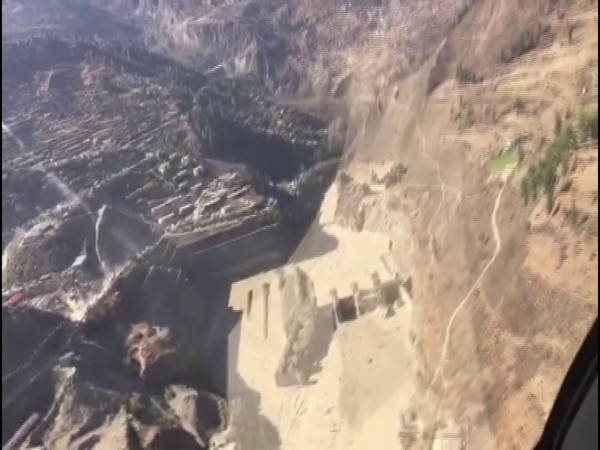 Aerial view of the devastation site in Chamoli. (Source: ITBP)