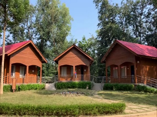 The log huts at Tepania Eco-park are attracting tourists in Tripura, (Photo/ANI)