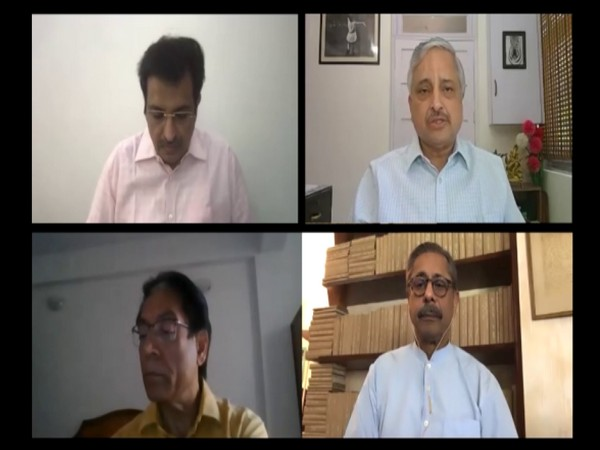 Director AIIMS Delhi Dr Randeep Guleria and others addressing issues related to coronavirus. (Photo/ANI)