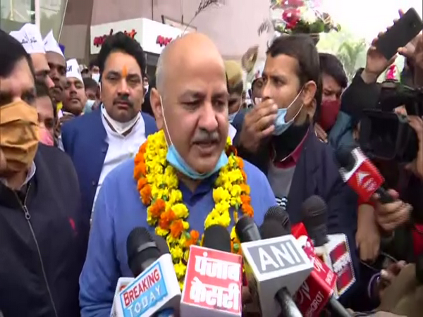 Delhi Deputy Chief Minister, Manish Sisodia talking to media on Tuesday.