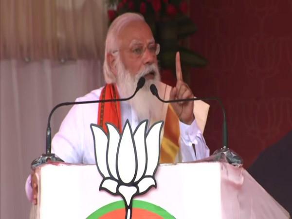 Prime Minister Narendra Modi addressing a rally in Kerala's Palakkad. (Photo/ANI)