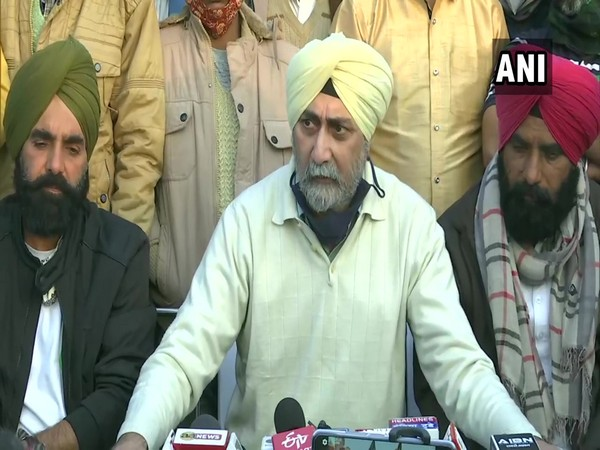 AIKSCC convenor VM Singh during a press conference in New Delhi on Wednesday. (Photo/ANI)