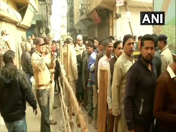 Voting underway in a constituency in Delhi