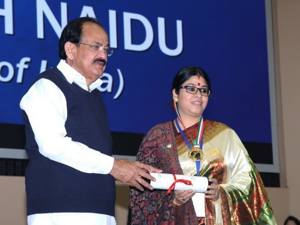 Dr Sohini Sastri with Vice President M Venkaiah Naidu